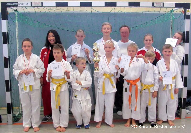 Die Gewinner – SC Karate Bestensee auf dem 3. Ranglistenturnier 2015